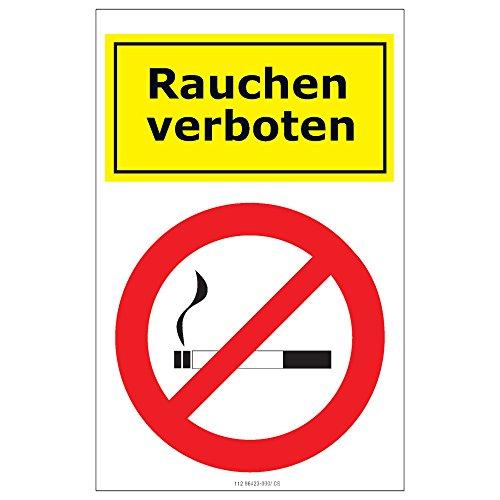 Preisvergleich Produktbild Etiketten Rauchen verboten 1 Bogen selbstklebend