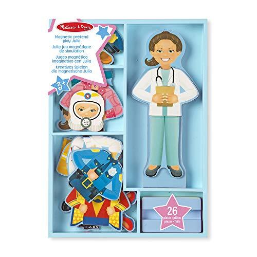 Melissa&Doug magnetisches Fantasiespiel – Julia | Fantasiespielzeug | kognitive Fähigkeiten | 3+ | Geschenk für Jungen oder Mädchen