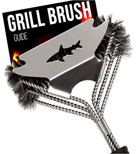 New Bristle Free Grill Brush and Scraper - BBQ Cleaner Tool - Spring Coil Grate Scrubber. New 2020 M...