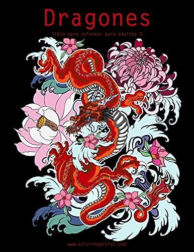 Dragones libro para colorear para adultos 2