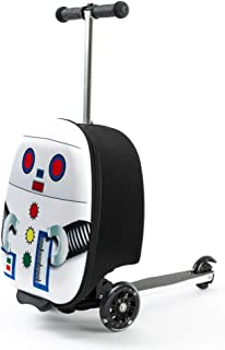 "Kiddie Totes 19"" Hardshell Carry-on Scooter Suitcase - Light Up LED Wheels - Robot"