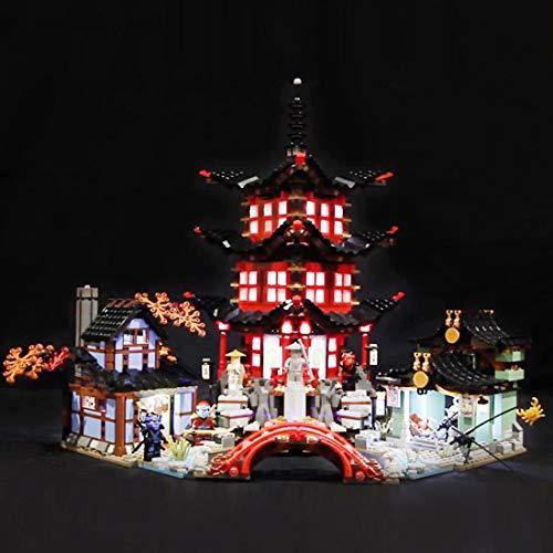 Poxl LED Beleuchtung Für Ninjago Temple of Airjitzu LED Light LED Licht Kit Kompatibel Mit Lego 70751 - Lego Modell Nicht Enthalten