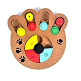 Stock Show 1Pc Pet Intelligence Toy, Creative Wooden Paw Shape Pet IQ Training Eudcational Games Plate Toys, Puzzle Dish Slow Feed Bowl for...