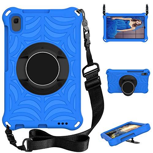 XunyLyee Funda Infantil Compatible con Lenovo Tab M8, Correa de Hombro y Giratorio Soporte, Funda para Lenovo Tab M8 HD/Smart Tab M8/Tab M8 FHD, Azul