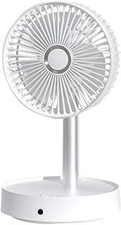 SCILLO 扇風機 折り畳み リビング扇風機 台座ファン 卓上扇風機 収縮ポール ポータブル スタンドファン 伸縮 充電式 4段階風量調節 7200mAh電池内蔵 ビング扇 usb (ホワイト)