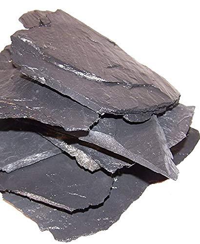 3 kg Schiefer schwarz, Aquarium, Terrassenbau, Dekoration