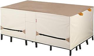 غطاء طاولة الفناء درع الشرفة - مجموعة أغطية طاولة الطعام والكراسي الخارجية المقاومة للماء - 84 × 56 بوصة