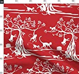 Affe, Chinesisches Neujahr, Sternzeichen, Tiere Stoffe -