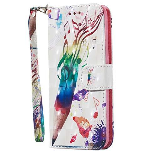 S20 Handyhülle Kompatible für Samsung Galaxy S20 Hülle Case Flip Cover PU Leder Tasche 3D Muster Flipcase Schutzhülle Handytasche Skin Ständer Klapphülle Schale Bumper Magnet Deckel Musik Stift