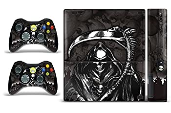 247 Skins Graphics kit Sticker Decal Compatible with Xbox 360E 360 Elite and Controllers - Reaper