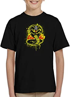 Cloud City 7 Strike First Cobra Kai Snake Logo Kid's T-Shirt