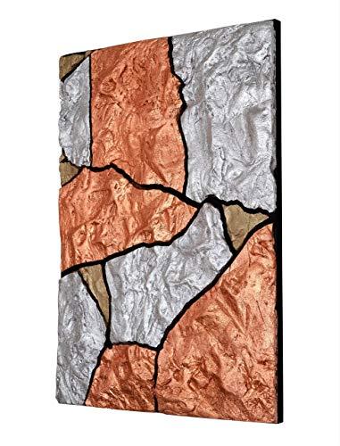 Wandbild'Cracked Copper' - Unikat - gestaltet mit Blattmetall
