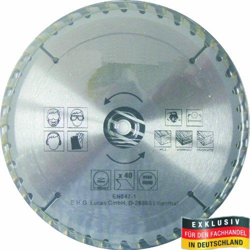 Masterproof lame de scie circulaire en métal 180 mm 40 dents en acier trempé spécial, pour tout travail)