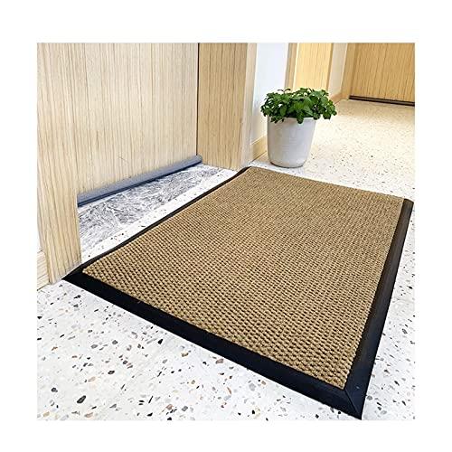 Dörrmatta entrédörr utanför - halkskyddsmatta, tvättbar och skötsam dörrmatta, rengöringsmatta för entrématta (Color : D, Size : 60cmx90cm)