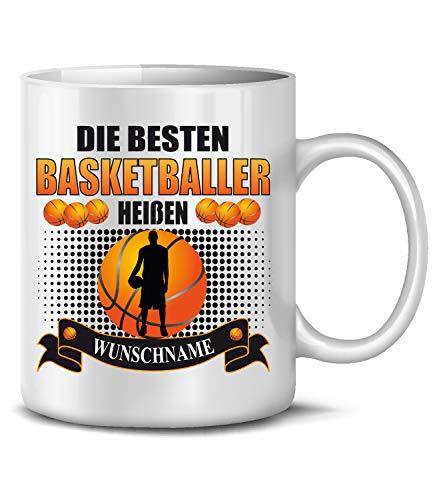 Die beesten Basketballer heißen Wunschname Basketball fan fanartikel Tasse Becher Kaffeetasse Kaffeebecher Kaffeepott Artikel Geschenke Geburtstag Geschenkidee Geschenkartikel Personalisierte lustig