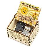 You are My Sunshine Music Box, Anniversary Christmas Valentine Birthday Gift for Wife Girlfriend Husband Boyfriend Daughter Son Wooden Musical Box Mechanism Present