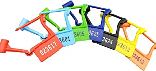 Pack of 50 Disposable Multicolored Luggage Plastic Padlock Seals,Safety Control Seals Numbered (Random Color) (50 PCS)