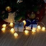 CUQOO 10 LED Pine Cone Christmas...