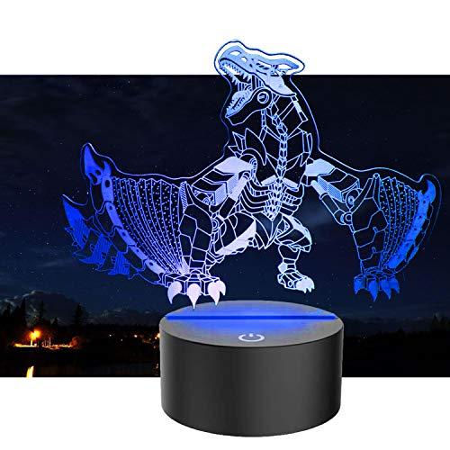 Jhqyam Juguete de dragón para niñas con mando a distancia, 16 colores RGB cambiantes, lámpara de mesita de noche para decoración del hogar, regalo de Navidad para bebés, niños, niños pequeños