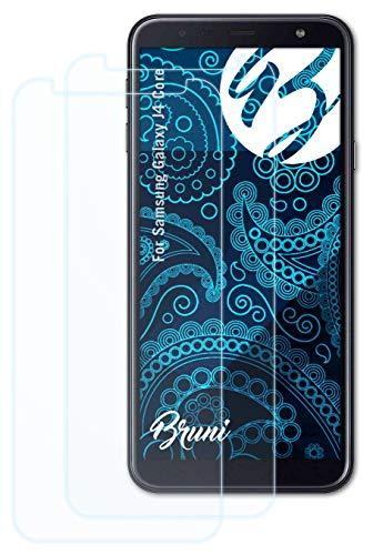 Bruni Schutzfolie kompatibel mit Samsung Galaxy J4 Core Folie, glasklare Bildschirmschutzfolie (2X)