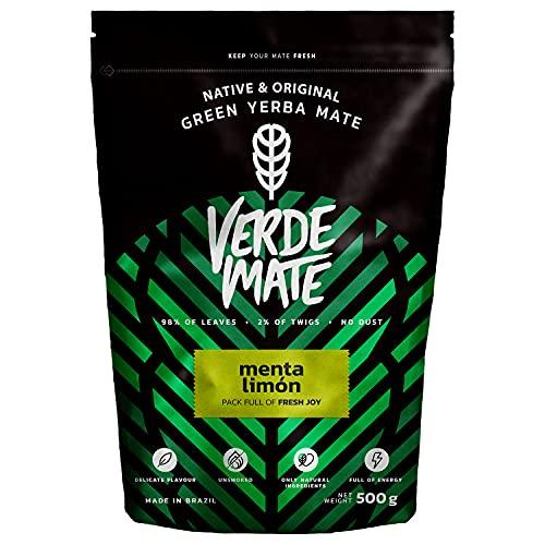 Verde Mate Green Menta Limon 500g   Yerba Mate Té con Hierbas y Frutas   Yerba Mate de Brasil   Yerba Mate Refrescante y Estimulante   Sin Gluten   Sin Humo