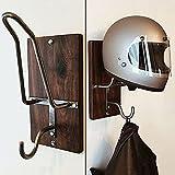 Motorcycle Helmet Rack & Jacket Hook,Helmet Holder Football Helmet Wall Mount Helmet Hanger Motorcycle Helmet Accessories For Coat, Hat, Helmet, Keychain