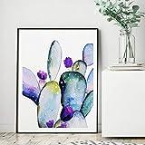 Lámina Suculenta Pastel Arte de la pared Acuarela Cactus Carteles, Sala de...