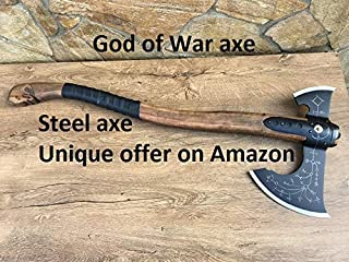 Hand forged Leviathan axe, viking axe, God of War, Kratos axe, God of War 4, prop, games, replica, Kratos weapon, playstation,costume weapon
