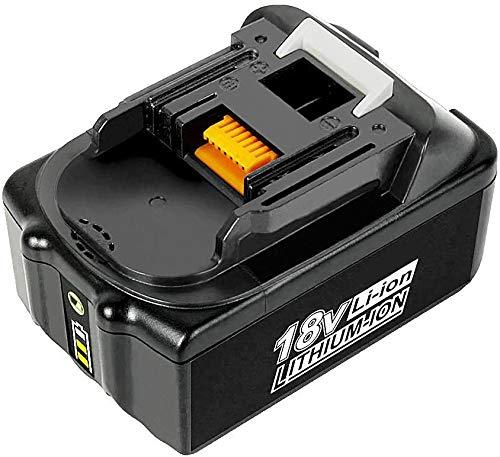 18V 5.0Ah BL1860B Ersatzakku mit LED-Anzeige Kompatibel für Makita 18V BL1830B BL1860B BL1840B BL1815 LXT-400