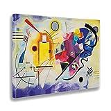- Quadro - Stampa su Tela Canvas - Kandinsky - Giallo Rosso Blu - 100 X 140 Cm