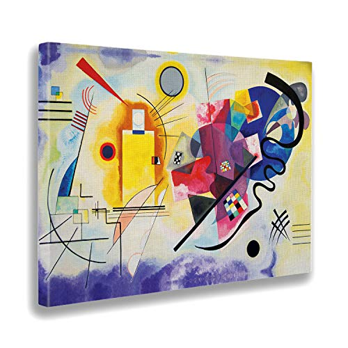 Giallobus - Cuadro - Impresion EN Lienzo - Kandinsky - Amarillo Rojo Azul - 70 x 100 CM