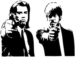 Pegatinas Clásicas Banksy Pulp Fiction Movie Wall Art Decal Decor Mural Sticker Vinyl Poster Home Decor-56X40Cm