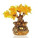 NYKK Ornamento de Escritorio Sala de Lucky Decoración Citrino Fortuna árbol del Dinero Árbol Porche Ventana Decoración Tienda de Apertura de Regalos artesanías decoración