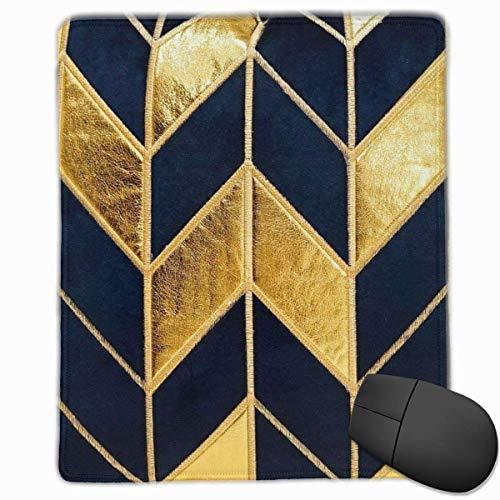 Gaming Mouse Pad, personalisierte benutzerdefinierte Maus Padnon-Slip Gummi Gaming Mouse Pad, bleiben Sie positiv, arbeiten Sie hart und lassen Sie es geschehen Marineblau Gold gestreift Kissen Kissen