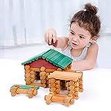 AMZ BCS Niños de Madera Cabaña en el Bosque Juguetes de Desarrollo Niño Puzzle Creativo Granja Casa Bloques de construcción Empalmes de Madera Maciza Oxyphylla Toy Set 382 PCS