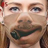 PT-NIUJHG Unisex Funny Beard Expression 3D-Druck Waschbare Ornamente Für Weihnachten Und Halloween