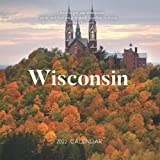 """Wisconsin 2022 Calendar: From January 2022 to December 2022 - Square Mini Calendar 7x7"""" - Small Gorgeous Non-Glossy Paper"""