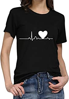 e73ac7f3ba8e6f ManlinG7* Maglietta Donna Divertenti Vintage Tumblr Magliette Donna Manica  Corte estive Ragazza t Shirt Stampata