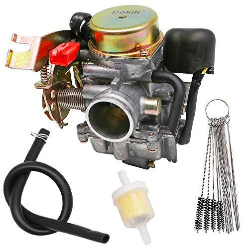 Dokili Carburador Racing 30 mm GY6 125 – 150 cc para X9 125 M2300001 2000 – 2003, kit limpiador de carburador y junta de filtro de combustible