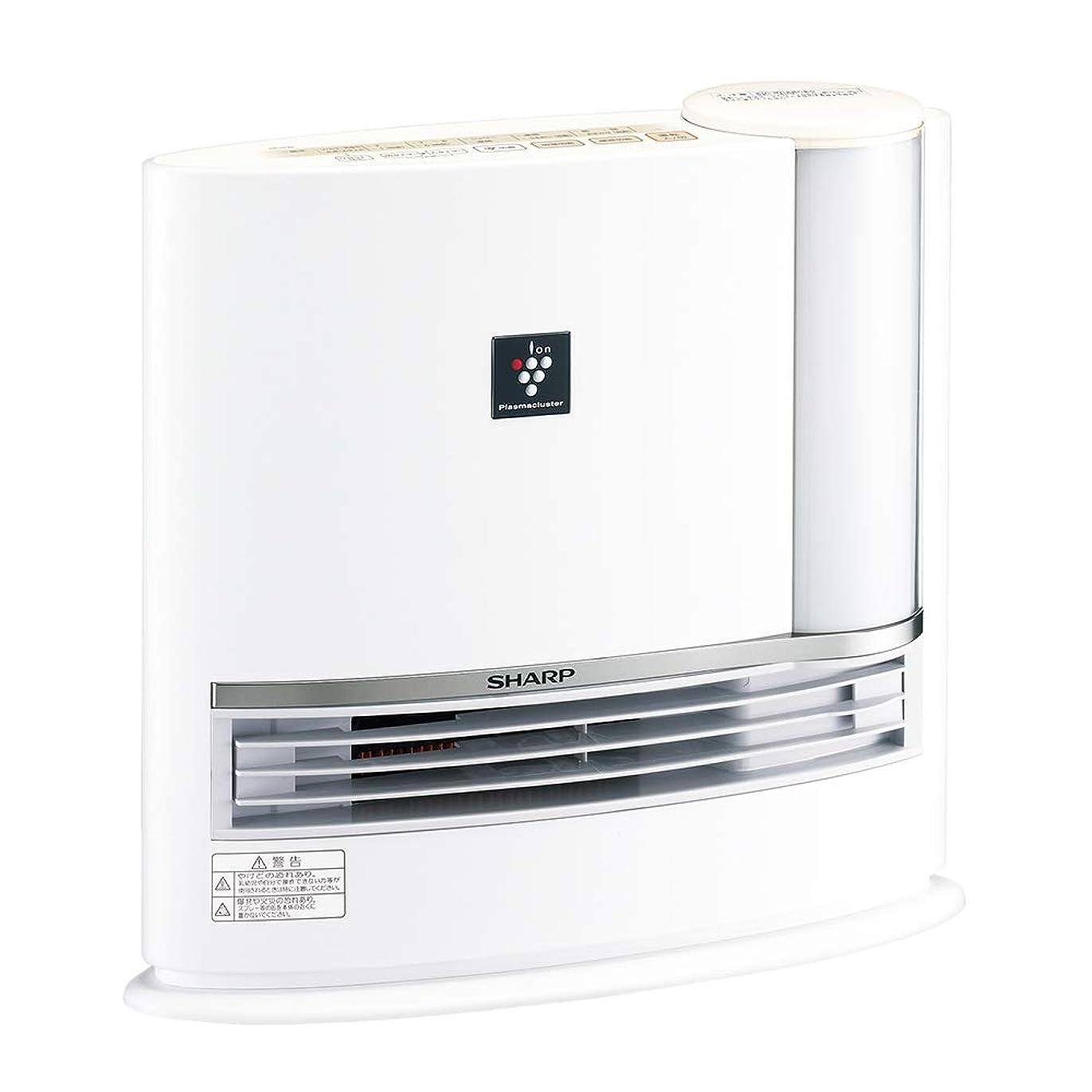 タッチ知らせるペレットシャープ プラズマクラスター搭載 加湿機能付 セラミックファンヒーター ホワイト HX-H120-W