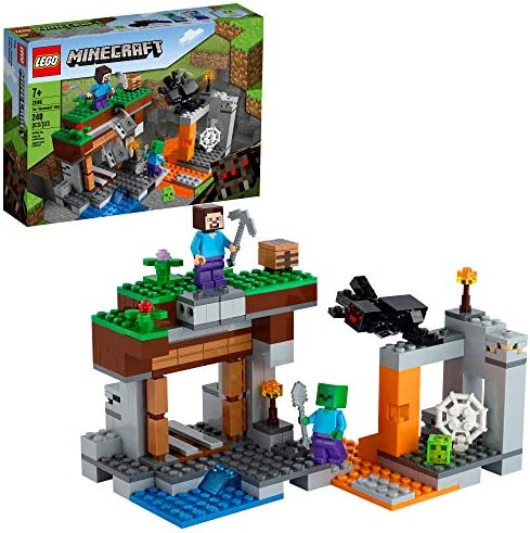 LEGO Minecraft The Abandoned Mine 21166 Zombie Cave Battle Playset with Minecraft Action Figures product image