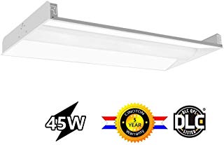 Cinoton 2x4 FT LED Troffer Light, 45W Volumetric Troffer, 5625Lumens 4000K, 120-277V AC Input, Fluorescent Replacement, Commercial Drop Ceiling Panel Light for Office, School,Hotel