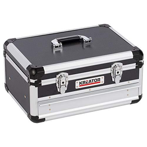 Kreator KRT640601B Gereedschapskoffer - 430 x 300 x 205 mm - zwart - (geleverd zonder gereedschap)