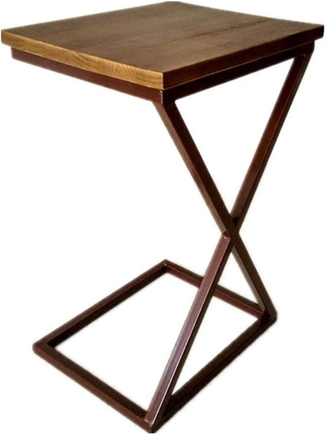 TJTG End Tables Small Coffee Table Simple Modern Removable Bedside Table Solid Wood Side Corner Sofa Side Table Home Office Desk (Size   65CM)