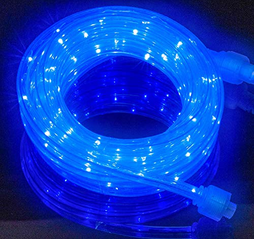 Izzy Creation 18FT Blue LED Flexible Rope Lights Kit, Indoor/Outdoor Lighting, Home, Garden, Patio, Shop Windows, Christmas, New Year, Wedding, Birthday, Party, Event
