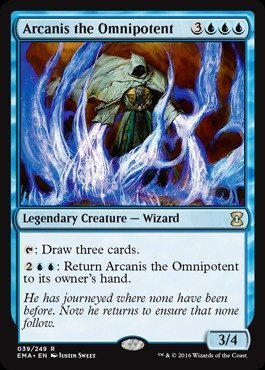 Magic The Gathering - Arcanis The Omnipotent (039/249) - Eternal Masters - Foil
