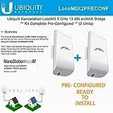 Ubiquiti LocoM5 X 2 Units Bridge Kit Complete Pre-Configured Nanostation Loco M5