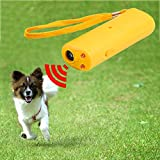 XINGX Repellente per Cani Ad Ultrasuoni Dispositivo Repellente per Cani con Torcia a LED Dispositivo di Addestramento del Cane Palmare Antiabbaio 3 in 1