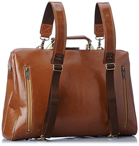 ダレスバッグ日本製3wayブラウンリュック型メンズビジネスバッグ