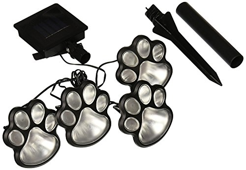 PAW PRINT GARDEN LIGHTING Solar LED Decorative Set of 4